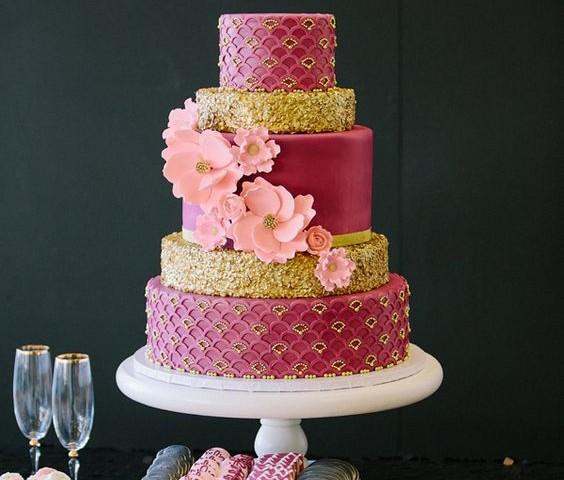 bizcochos de bodas con flores caabaab
