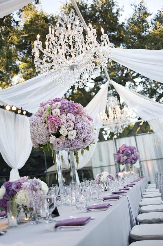 Una boda color violeta lila morado bodas pr - Decoraciones en color plata ...