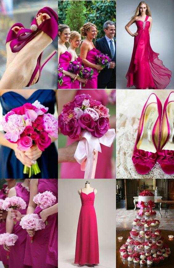 Decoración para una boda color fucsia | Bodas Fuschia