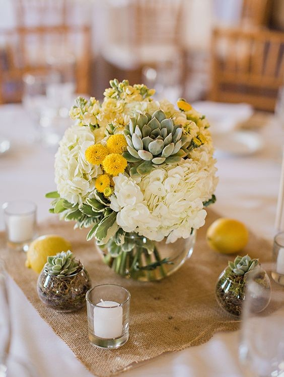 como decorar una boda color amarillo