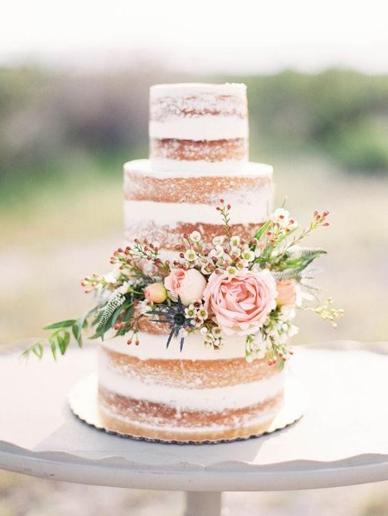 naked cakes para bodas