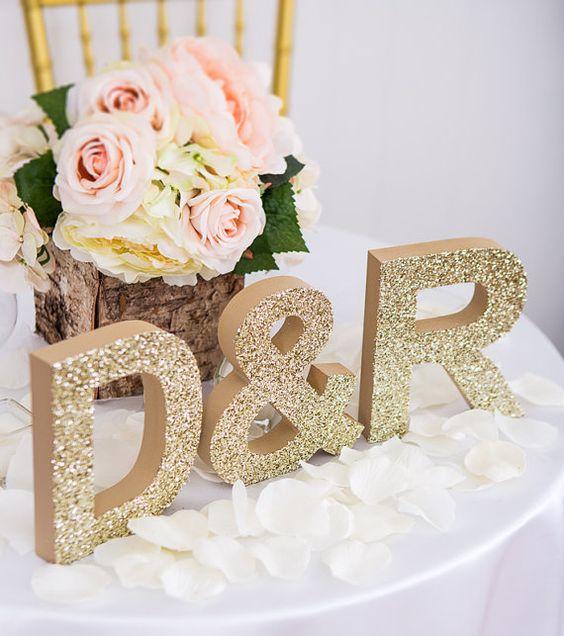 Letras para decorar una boda letras gigantes iniciales - Letras de decoracion ...