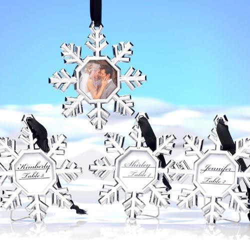 Snowflake frame orniment L