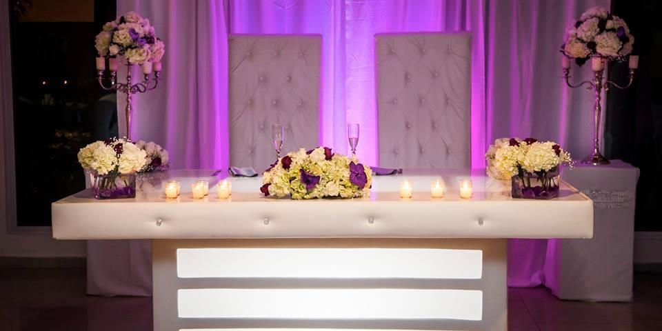 mesas iluminadas para bodas modernas n